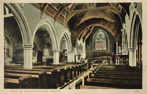 St Andrews postcard - interior