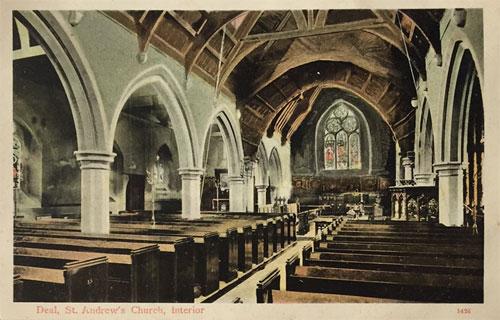 St Andrews postcard - interior