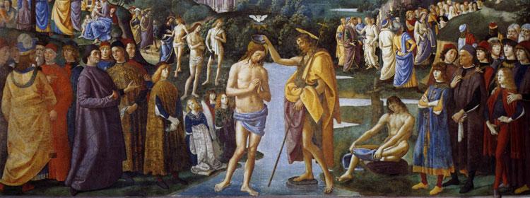 Baptism of Jesus - Pietro Perugino, 1482