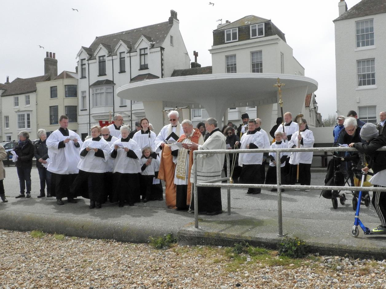 St Andrew's Church, Deal, Kent - Blessing the sea